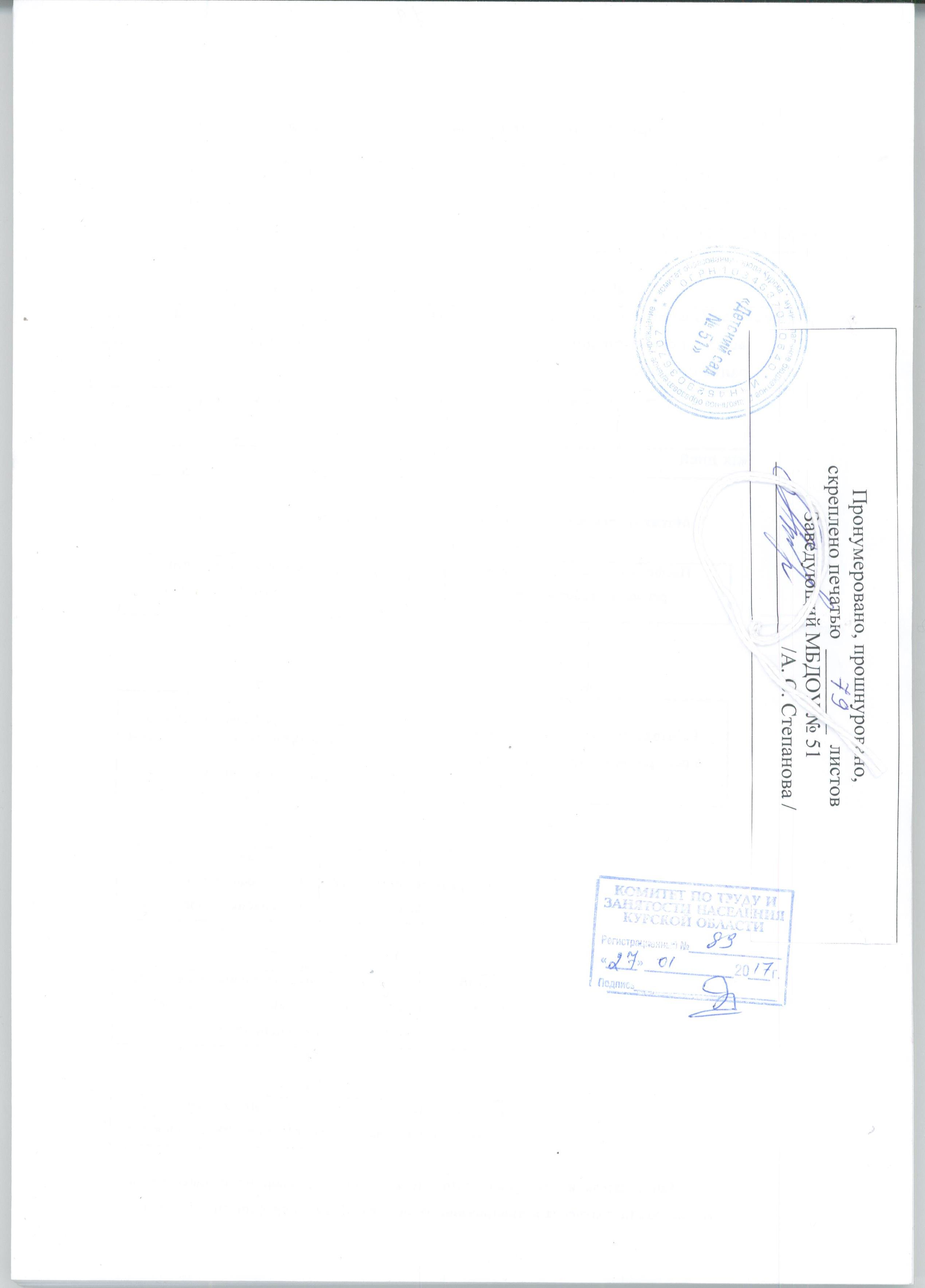 должностные инструкция старшего воспитателя 0 5 ставки доу 2013